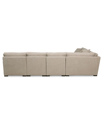 Radley Fabric 6 Piece Chaise Sectional Sofa Furniture