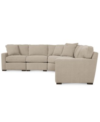 Radley fabric 5 piece modular sectional sofa furniture for Radley 5 piece fabric sectional sofa