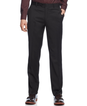 Bar Iii Black Solid Dress Pants Slim Fit $ 85.00