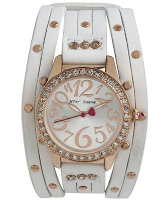 Betsey Johnson Women's White Multi-Strap Watch 35mm BJ00294-04
