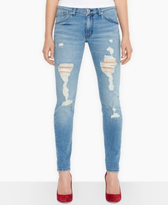 Levi's® Juniors' 524 Destroyed Skinny Jeans - Jeans - Juniors - Macy's
