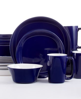 Rachael Ray Round and Square Blue 16-Piece Dinnerware Set  sc 1 st  Macy\u0027s & Rachael Ray Ikat 16-Piece Dinnerware Set - Casual Dinnerware ...