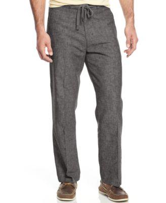 Tasso Elba Linen Drawstring Pants - Pants - Men - Macy's