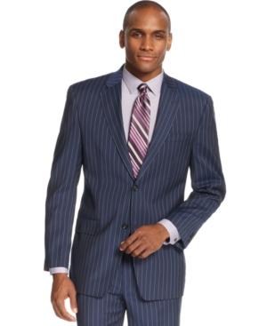 Sean John Blue Striped Jacket