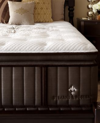 stearns u0026 foster estate lux warrington euro pillowtop luxury plush california king mattress set