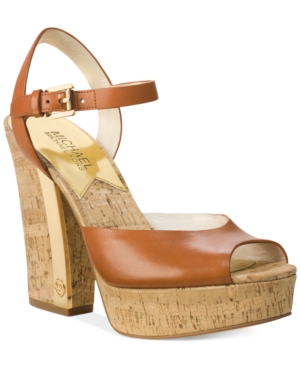 Michael Michael Kors London Platform Sandals Womens Shoes