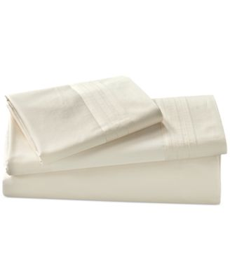 Donna Karan Home Ivory King Flat Sheet