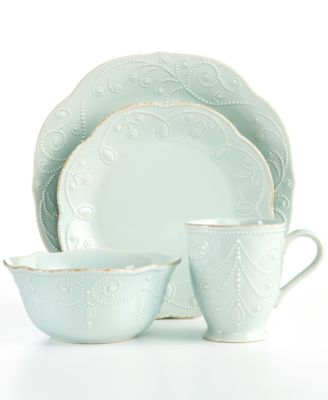 Lenox Dinnerware, French Perle Ice Blue 4 Piece Place Setting