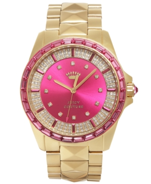 Juicy Couture Women's Stella Pyramid Stud Gold-Tone Stainless Steel Bracelet Watch 40mm 1901131