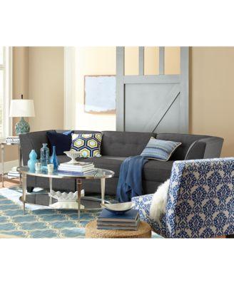 Harper Fabric 6 Piece Modular Sectional Sofa Square Corner Unit