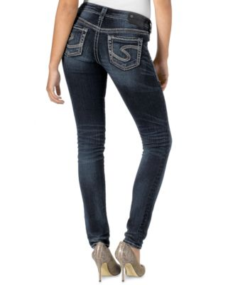 Silver Jeans Aiko Mid Skinny Jeans - Jeans - Juniors - Macy's