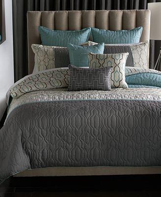 Bryan Keith Bedford 9 Piece King Reversible Comforter Set