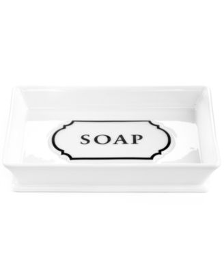 Martha Stewart Collection Porcelain Words Soap Dish. Martha Stewart Collection Porcelain Words Toothbrush Holder