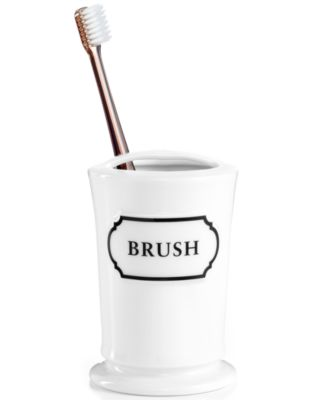 Martha Stewart Collection Porcelain Words Toothbrush Holder. Martha Stewart Collection Porcelain Words Toothbrush Holder