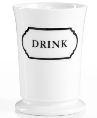 Martha Stewart Collection Porecelain Words Tumbler. Martha Stewart Collection Porecelain Words Tumbler   Bathroom