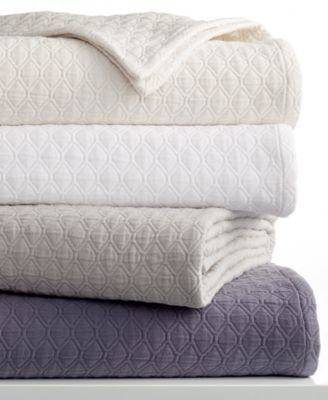 Vera Wang Diamond Matelasse Coverlet Collection