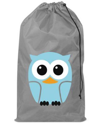 Kikkerland world map travel laundry bag storage organization kikkerland owl laundry bag gumiabroncs Choice Image