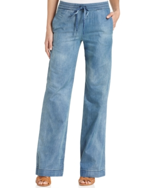Kut from the Kloth Drawstring Wide-Leg Jeans
