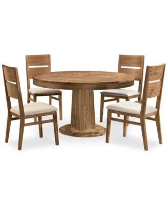 Champagne 5 Piece Round Dining Room Furniture Set. Champagne 5 Piece Round Dining Room Furniture Set   Furniture   Macy s