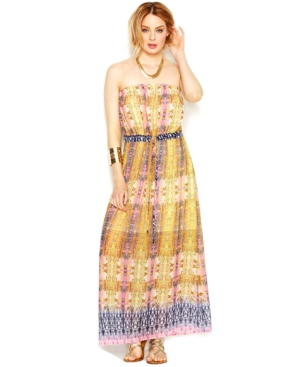 Bar Iii Python-Print Maxi Dress $ 59.99