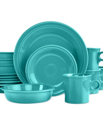 16-Piece Turquoise Set, Service for 4