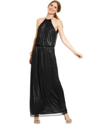 Msk Blouson Hardware Halter Maxi Dress Dresses Women