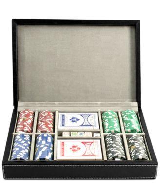 Bey-Berk All-Inclusive Leather Poker Set