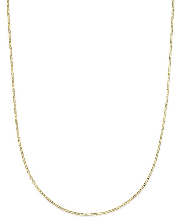 """Italian Gold 18"""" Flat Rolo Chain Necklace (1-3/8mm) in 14k Gold"""