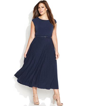 Alfani Plus Size Belted Midi Dress Dresses Plus Sizes