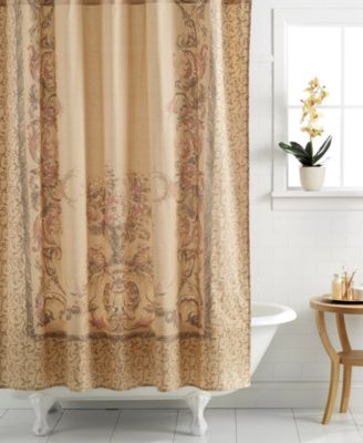 CLOSEOUT! Croscill Opulence Shower Curtain - Bathroom Accessories ...