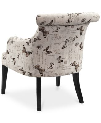 JLA Tinsley Fabric Butterfly Accent Chair, Direct Ship