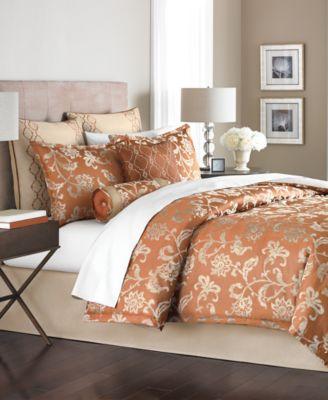 Martha Stewart Collection Devon Bloom 6 Piece Full Comforter Set Bed In A B