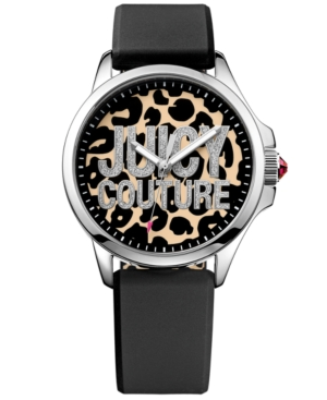 Juicy Couture Women's Jetsetter Black Silicone Strap Watch 38mm 1901143