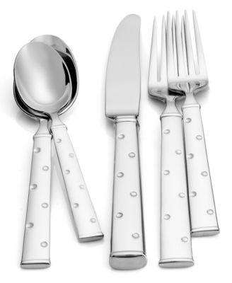 kate spade new york Larabee Dot 5-Piece Place Setting Flatware