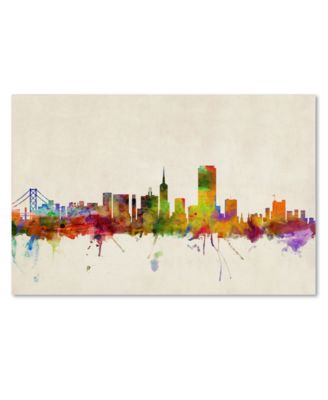 "'San Francisco Skyline' Canvas Print by Michael Tompsett, 22"" x 32"""