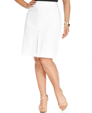 Jones New York Collection Plus Size Pleated Skirt