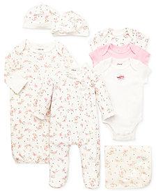 Little Me Baby Girls Vintage Rose Gift Bundle