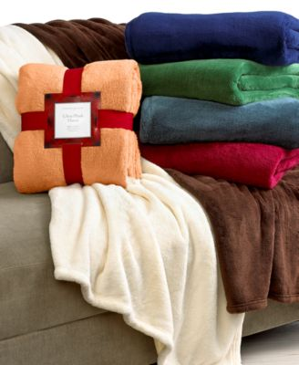 CLOSEOUT! Charter Club Ultra Plush Throw