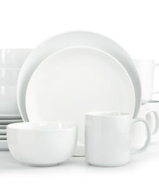 The Cellar Whiteware Coupe 16-Pc. Set, Service for 4 - Dinnerware ...