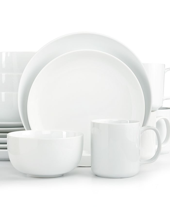 The Cellar - Whiteware Coupe 16-Piece Set
