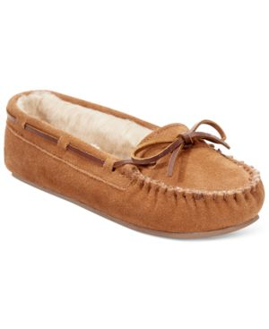 Minnetonka Kayla Faux-Fur Slippers Womens Shoes