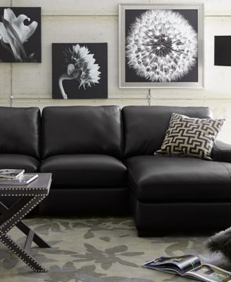 Fabrizio Leather Sectional Sofa Living Room Furniture