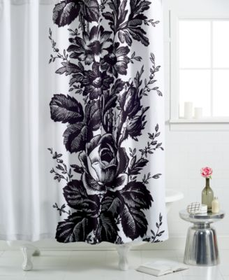 Martha Stewart Collection  Madeline Toile Shower Curtain. COSEOUT  Martha Stewart Collection  Madeline Toile Shower Curtain