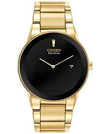 Citizen Men's Axiom Eco-Drive Gold-Tone Stainless Steel Bracelet Watch 40mm AU1062-56E