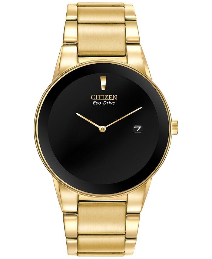 Citizen - Men's Axiom Eco-Drive Gold-Tone Stainless Steel Bracelet Watch 40mm AU1062-56E