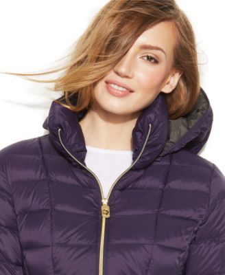 Michael kors women's quilted nylon jacket