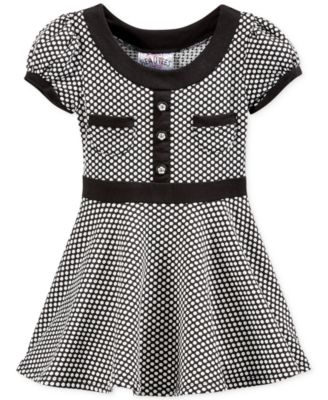 Little Girls' Textured Dot Dress