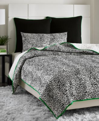closeout! vince camuto home snow leopard king printed coverlet