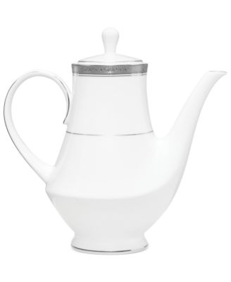 Noritake Dinnerware, Crestwood Platinum Coffee Pot