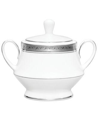 Noritake Dinnerware, Crestwood Platinum Sugar Bowl